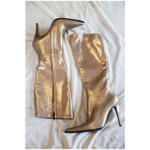Sky Shoes - Gold Dust Boots